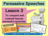 PERSUASIVE SPEECHES - GRADE 5 - Lesson 3 - Analyzing famous speeches