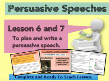 PERSUASIVE SPEECHES - GRADE 5 - Lesson  6 and 7  - HOT TASK