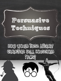 PERSUASIVE TECHNIQUES: Famous Characters Sell Household Items