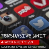PERSUASIVE UNIT - Social Media Theme - Graphic Organizers