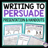 PERSUASIVE WRITING PRESENTATION & HANDOUTS