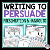 PERSUASIVE WRITING PRESENTATION & HANDOUTS