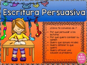 PERSUASIVE WRITING IN SPANISH