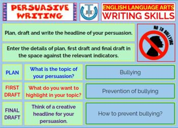 PERSUASIVE WRITING: LESSON & RESOURCES