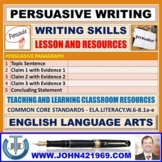 PERSUASIVE WRITING: LESSON AND RESOURCES
