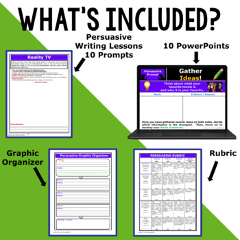 PERSUASIVE WRITING PROMPTS BUNDLE!!! - 10 LESSONS!!!!! - Middle School