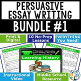 Persuasive Writing Lessons Prompts BUNDLE!! w/ Digital Res
