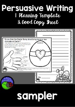PERSUASIVE WRITING SAMPLER ~ Easter writing prompt and planning template