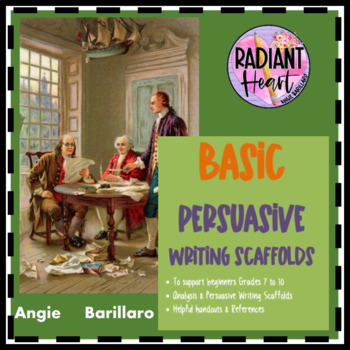 PERSUASIVE WRITING SCAFFOLDS WORKSHEETS AND UNIT