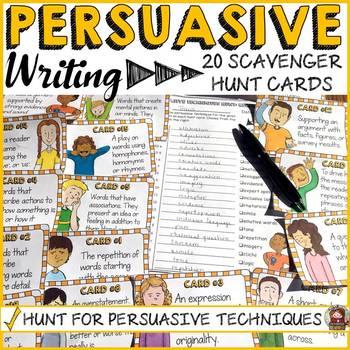 PERSUASIVE/OPINION WRITING: TECHNIQUES SCAVENGER HUNT