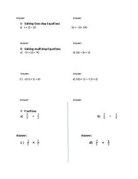 PERT Math Review