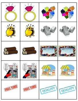 PESCA cards Avancemos 1 Unit 8 Lesson 2