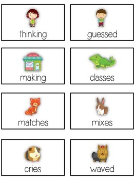 PET SHOP Inflectional Word Endings - ELA First Grade Game - Word Work Center