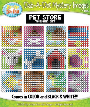 PET STORE Dab-A-Dot Mystery Images Clipart {Zip-A-Dee-Doo-Dah Designs}