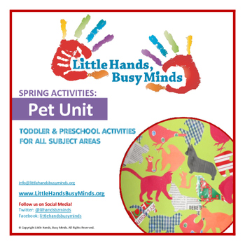 SPRING Activities: PETS - Weekly Thematic Unit for Toddlers & Preschoolers