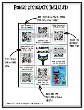 PETE THE CAT Accelerated Reader AR Listening Center w/40 QR Code Read Alouds