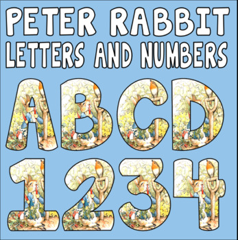 PETER RABBIT LETTERS NUMBERS TEACHING RESOURCES DISPLAY BEATRIX POTTER