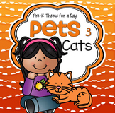 Cats Theme Literacy and Math Activities, Printables and Centers for Preschool