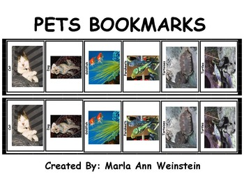 PETS BOOKMARKS