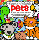 Pets Math and Literacy Centers Activities and Printables for Preschool