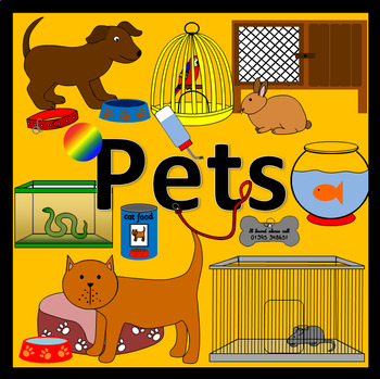 PETS thematic unit- topic, animals
