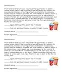 PG Movie Permission Slip