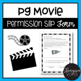 PG Movie Permission Slip Form