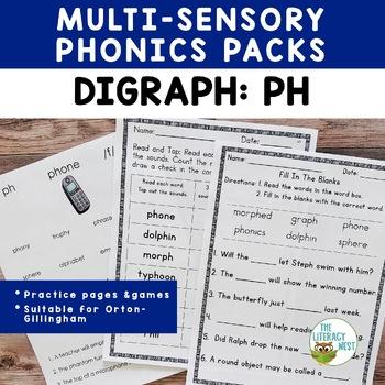 PH Digraph Word Work Activities Multisensory Phonics Orton