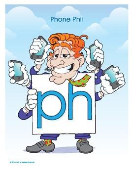 PH (Phone Phil) Word Buddy Poster