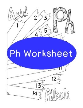PH Worksheet Coloring Page Litmus Paper Chemistry PDF Printable