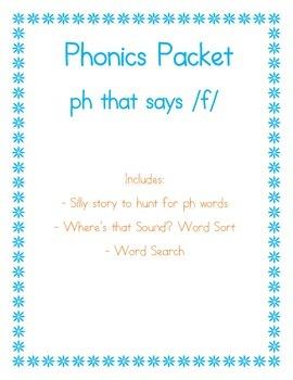 PH that sounds like /f/ Phonics Packet
