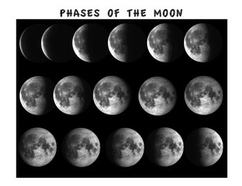PHASES OF THE MOON (GRADES 3 - 6)
