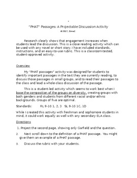 PHAT PASSAGES: A Projectable Discussion Activity