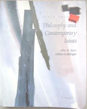 TEXTBOOK PHILOSOPHY AND CONTEMPORARY ISSUES Burr & Goldinger (Incl shipping)