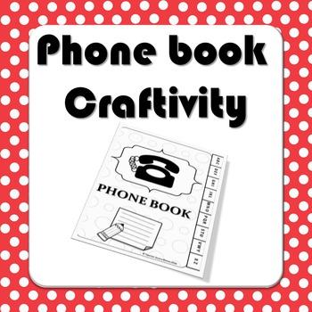 Phone Book Craftivity