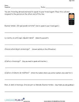 PHONE PRACTICE, OIR (SPANISH)