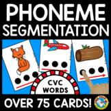 PHONEME SEGMENTATION ACTIVITIES PHONEMIC AWARENESS IN CVC WORDS FLASH CARDS