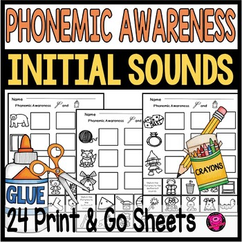 Phonetic Worksheets Kindergarten Phonemic Awareness by Oink4PIGTALES