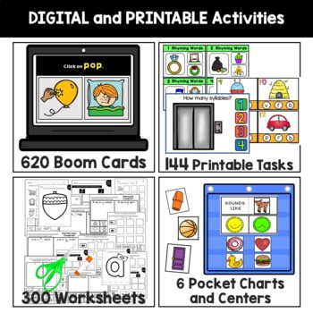 Phonemic Pocket Chart Activities and Centers Back to School Bundle