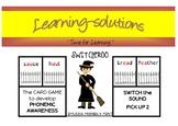 PHONEMIC DEVELOPMENT - SWITCHEROO CARD GAME - 25 games - Phases 3-5