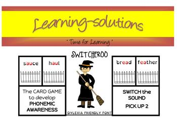 PHONEMIC AWARENESS - SWITCHEROO - 14 card games - Phases 3