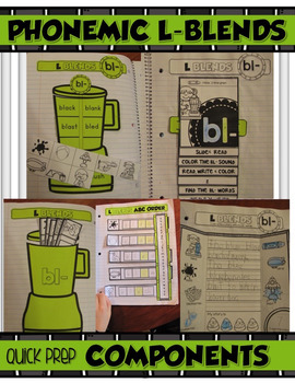 PHONEMIC L-BLENDS for your INTERACTIVE NOTEBOOK