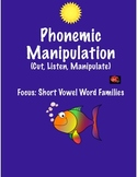 Phonics-Cut and Manipulate Letters-Short Vowel Word Families! Interactive! Fun!