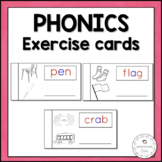 PHONETIC WORD EXERCISE CARDS MONTESSORI READING WRITING