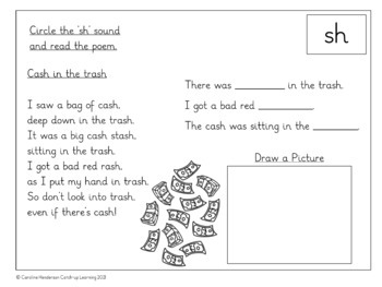 {sh blend} {digraph poems} {consonant digraphs}