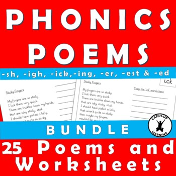 {PHONIC POEMS} {ick word family} {ing word family}