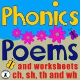 PHONIC POEMS Consonant Blends POETRY Phonograms Digraphs C