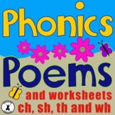 PHONIC POEMS {Consonant Blends} {Worksheets}