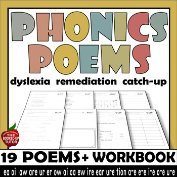 PHONICS POEM WORKBOOK 19 sounds no tricky words A4 and LETTER format