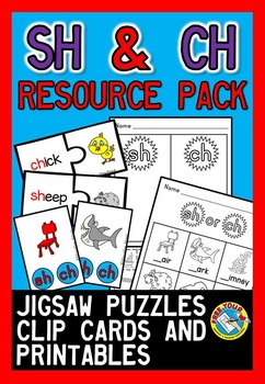 DIGRAPHS ACTIVITIES: SH AND CH DIGRAPH WORKSHEETS + DIGRAPH CENTERS